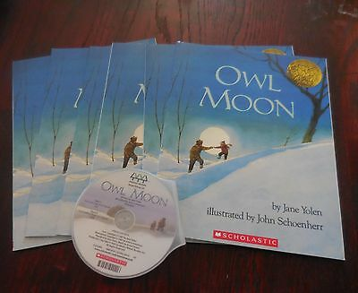 Owl Moon by Jane Yolen NEW Scholastic Listening 4 Books with CD