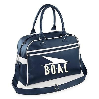 Boac Retro hand bag Bag .NEW includes novelty luggage tags