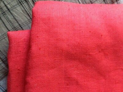 2m Red LInen 100% Linen Fabric - beautiful mid-weight 110cm wide