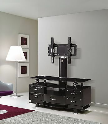 """Universal Tv Stand With Bracket For 32"""" - 65"""" + Glass"""