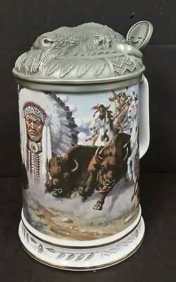 WARRIORS OF THE PLAINS THUNDERING HOOVES 1991 Hamilton Collection STEIN COA