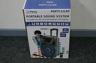Party Sound and Light Party-12 LED Portable Speaker System