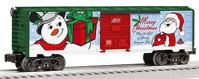 2015 Christmas Steel Boxcar, Lionel 6-82691