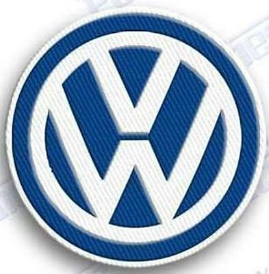 volkswagen vw  blue iron on embroidery patch auto car das auto emblem beetle