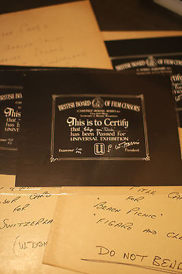 Historic & Extensive Collection Original Signed BBFC Disney Certificates 200+