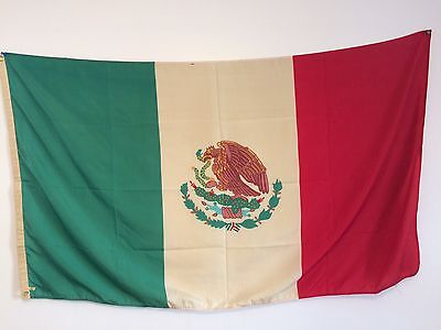 Vintage Large Mexican Flag 5' x 3'