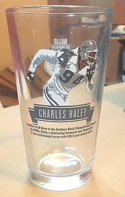 Charles Haley Dallas Cowboys 20Th Anniversary Miller Lite Beer Glass Very Htf