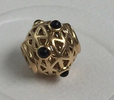 PANDORA 14ct Gold Onyx Constellation Charm - Retired