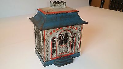 "Antique Cast Iron ""HOME BANK"" (Crown Bank) by J.E. Stevens ca.1872 Moore's #1232"