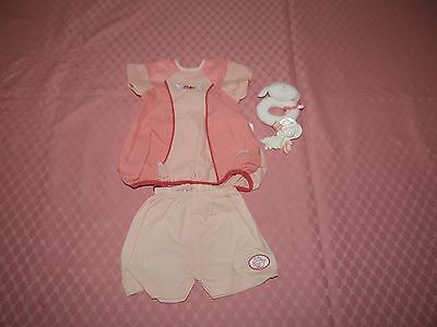 baby annabel  outfit plus dummy and  clip rattle