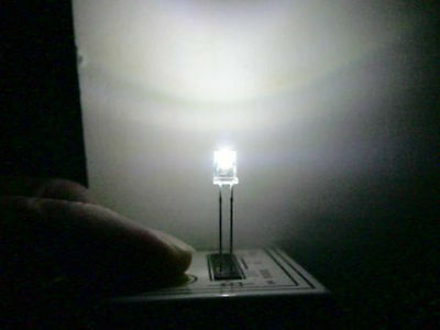 10 White 5Mm Inverted Cone Leds For Lighting O Scale Buildings