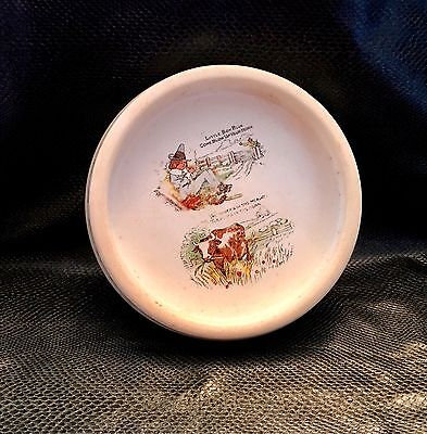 """Vintage ZPF Alphabet ABC Childs Baby Little Boy Rimmed Dish made in Germany 7"""""""