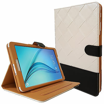 """Real Leather Smart Flip Stand Case Cover For Samsung Galaxy Tab E 9.6"""" T560 T561"""