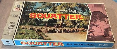 Vintage 1961 Board Game - Squatter - The Australian Wool Game - 100% Complete