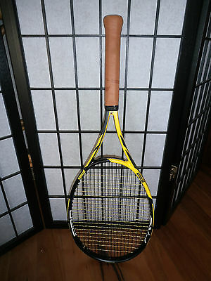 PRINCE Tour PRO 98 yellow Adult tennis racquet grip Sz 4 1/4 like new condition