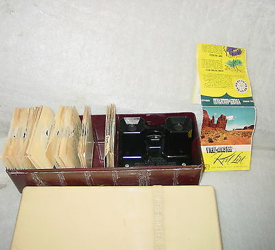 Vintage Sawyers Viewmaster Set W/ Case 36 Reels Lot Travel Mexico Ny Fair Sawyer