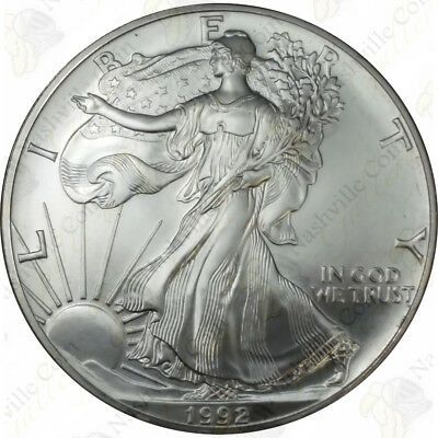 1992 1 oz American Silver Eagle - Brilliant Uncirculated - SKU #1386