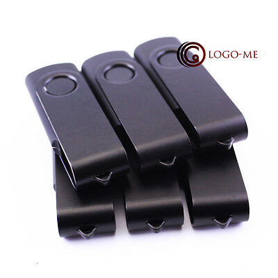 100pcs 1GB Black Swivel Rotate USB Flash Pen Drive Memory Stick U Disk Storage