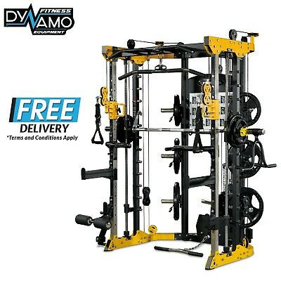 Functional Trainer Home Gym Smith Cable Crossover Commercial Heavy Duty Bearings