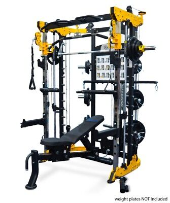 Functional Trainer Home Gym Smith Cable Crossover Commercial & Heavy Duty Bench