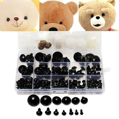 154pcs 6-24mm Black Plastic Safety Eyes For Teddy Bear Doll Animal Toy Crafts