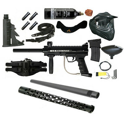 BT Combat Paintball Kit with mods Stock+Barrel & Shroud+Mag +++FREE CO2 Tank