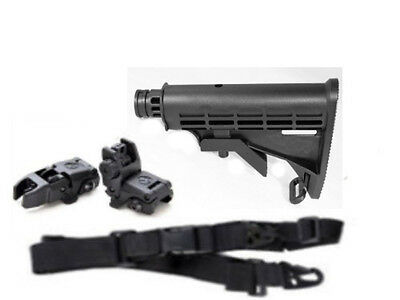 EMPIRE BT-4 Tactical Stock M4+ Flip-up Sights+ Sling Paintball