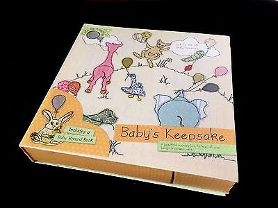Baby's Keepsake Memory Box With Record Book New
