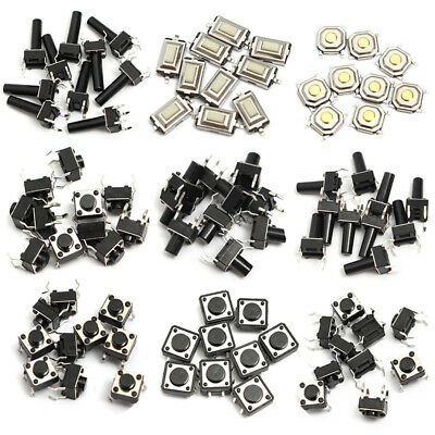 10 Types Momentary Tactile Push Button Switch Micro SMD SMT Tact Switches 140pcs