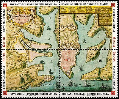 Sovereign Military Order Of Malta-Stamps-2002-Antique Geographic Maps-