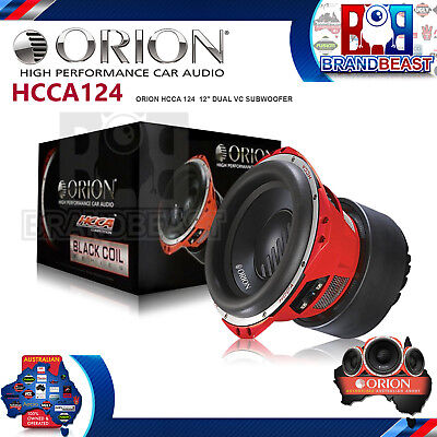 "Orion Hcca124 12"" Car Subwoofer 5000 Watt Dual 4 Ohm Voice Coil Hcca-124 New"