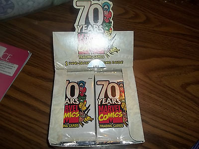 Marvel 70 years of marvel Open Box 24 Sealed Packs Hard to Find 70th Anniversary