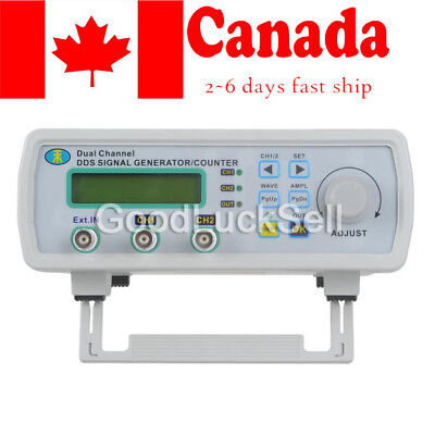 New Digital DDS Dual-channel Signal Generator Source Frequency Meter 25MHz CAN