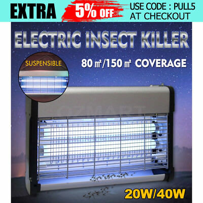 20/40W Electric Insect Killer Mosquito Pest  Fly Bug Zapper Catcher Lamp Indoor