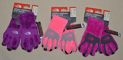 The north face Girls Denali Thermal Etip Gloves Powered Touch Screen S M L New