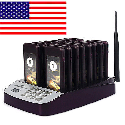 16 Restaurant Coaster Pager Guest Call Wireless Paging Queuing System Hot Sale