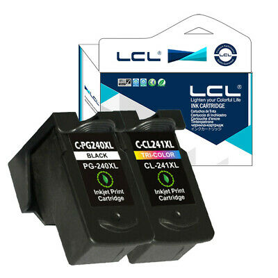 2PK PG240XL CL241XL Ink Cartridge for Canon Pixma  MX372/432/512/MG2120/ 3120