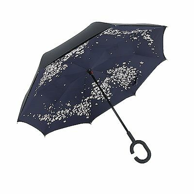 New Modern C-Handle Double Layer Inside-Out/Upside Down/Reverse Umbrella