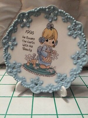 """Precious Moments """"He Covers The Earth With His Beauty"""" Rare Miniature Plate 1995"""