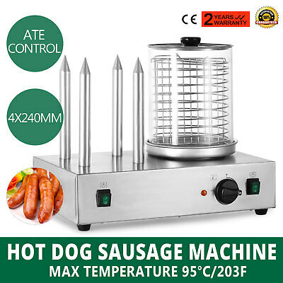 Roll Grill Hot Dog Steamer Sausage Machine Cooking Cooker Bun Warmer PROMOTION