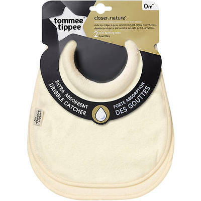 Tommee Tippee Closer To Nature 2 Milk Feeding Bibs & Free Gift