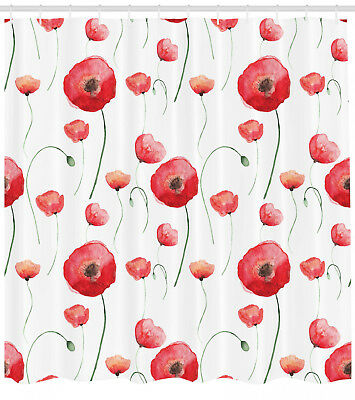 Red Poppy Flower Wheat Bath Mat Bathroom Rug Non-Slip Home Decor Carpet 24x16/""
