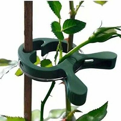 20pcs Re-Useable Garden Plant Support Spring Clips Flowers Veggie Tree Shrub Tie