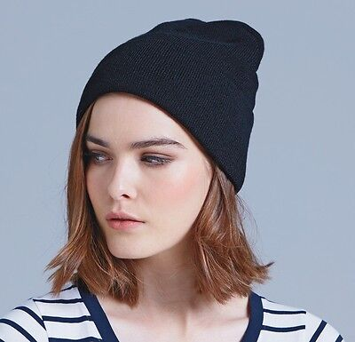 BEANIE - TRAINING WEAR  - NAVY BLUE from AS COLOUR (AUSTRALIA) UNISEX ONE SIZE