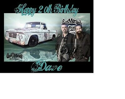 Gas Monkey Fast And Loud Richard Rawlings A5 Birthday Card Personalised