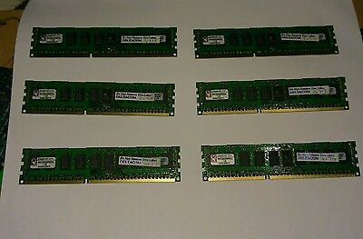 6* Kingston KVR1333D3D8R9S/2G 2gb 1333MHZ DDR3 ECC Registered server ram