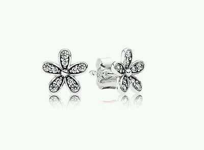 Dazzling Daisies earrings Pandora 290570CZ Sterling Silver 925