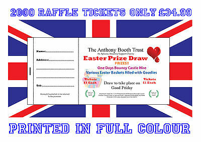 2000 Printed Personalised Raffle Prize Draw Tickets