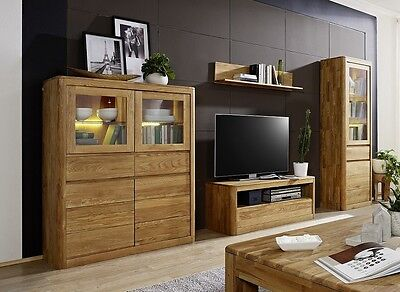 wohnwand schrankwand wohnkombi anbauwand sheesham massiv neu ovp eur picclick de. Black Bedroom Furniture Sets. Home Design Ideas
