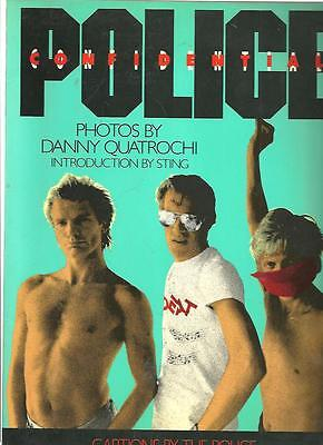 cc - The Police Confidential 1986 Photo Book with UNUSED Poster - Band & Sting